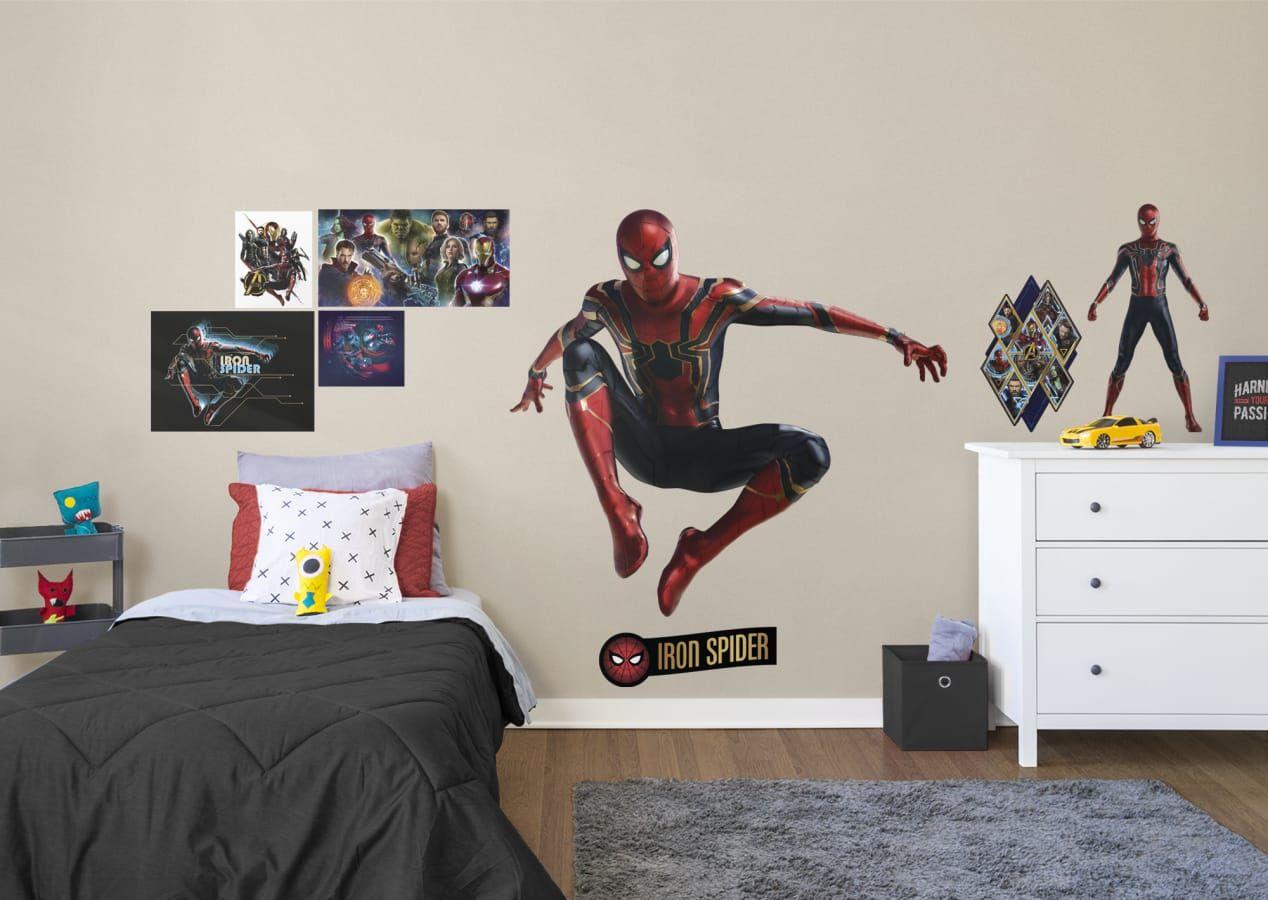 Spider Man Bedroom Superhero Bedroom Marvel S Infinity War Iron Spider Wall Decal Visit Us And Follow Us On Superhero Bedroom Marvel Bedroom Bedroom Decor