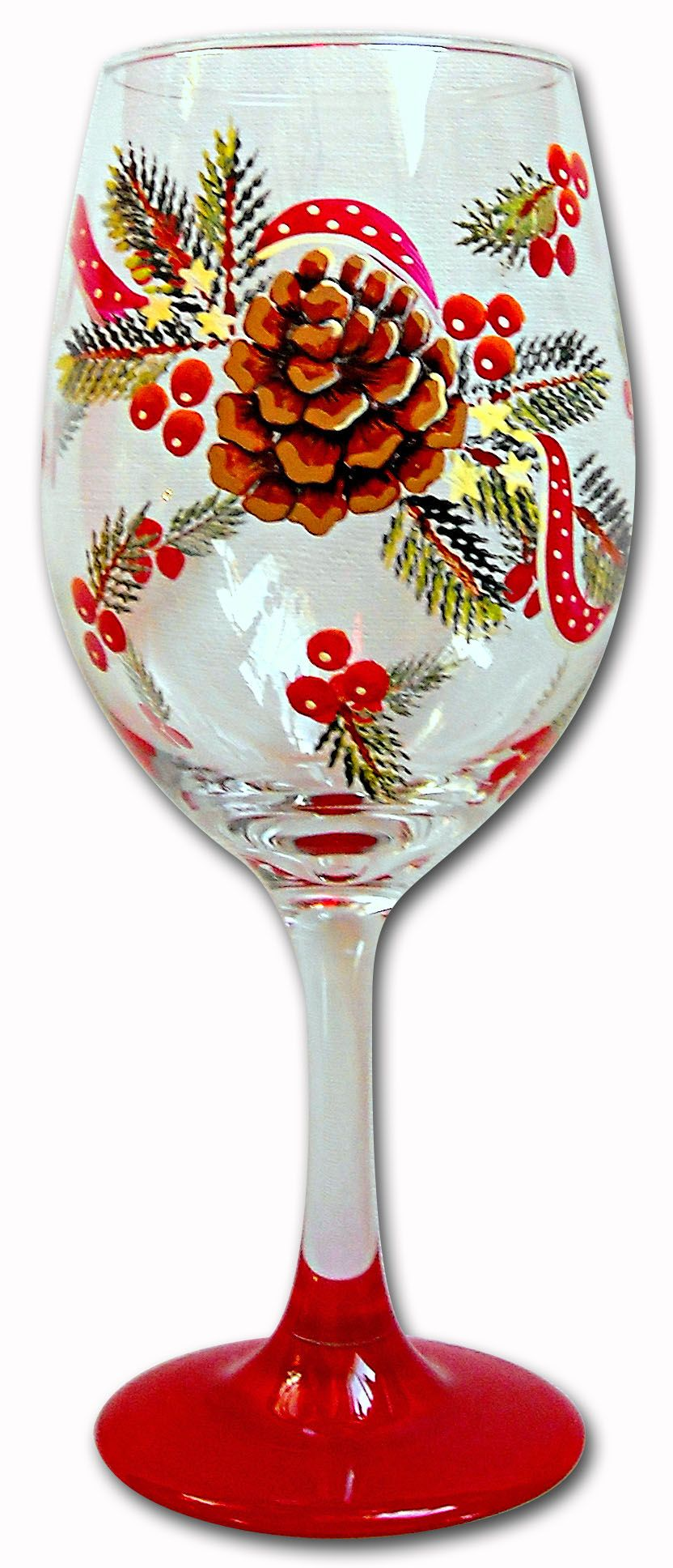 Jillybean Fitzhenry Painting Glassware Painted Wine Glass Bottle Painting