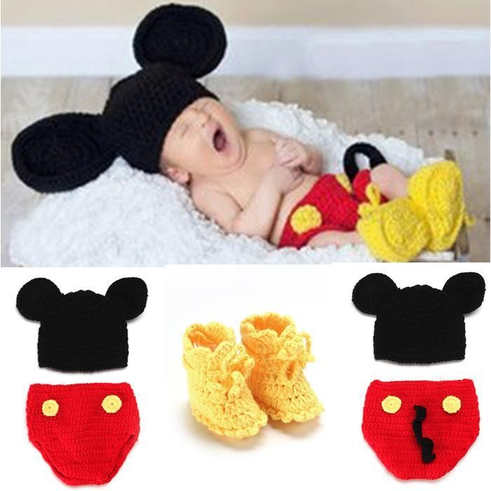 Baby's Crochet Role Play Costume Photo Props