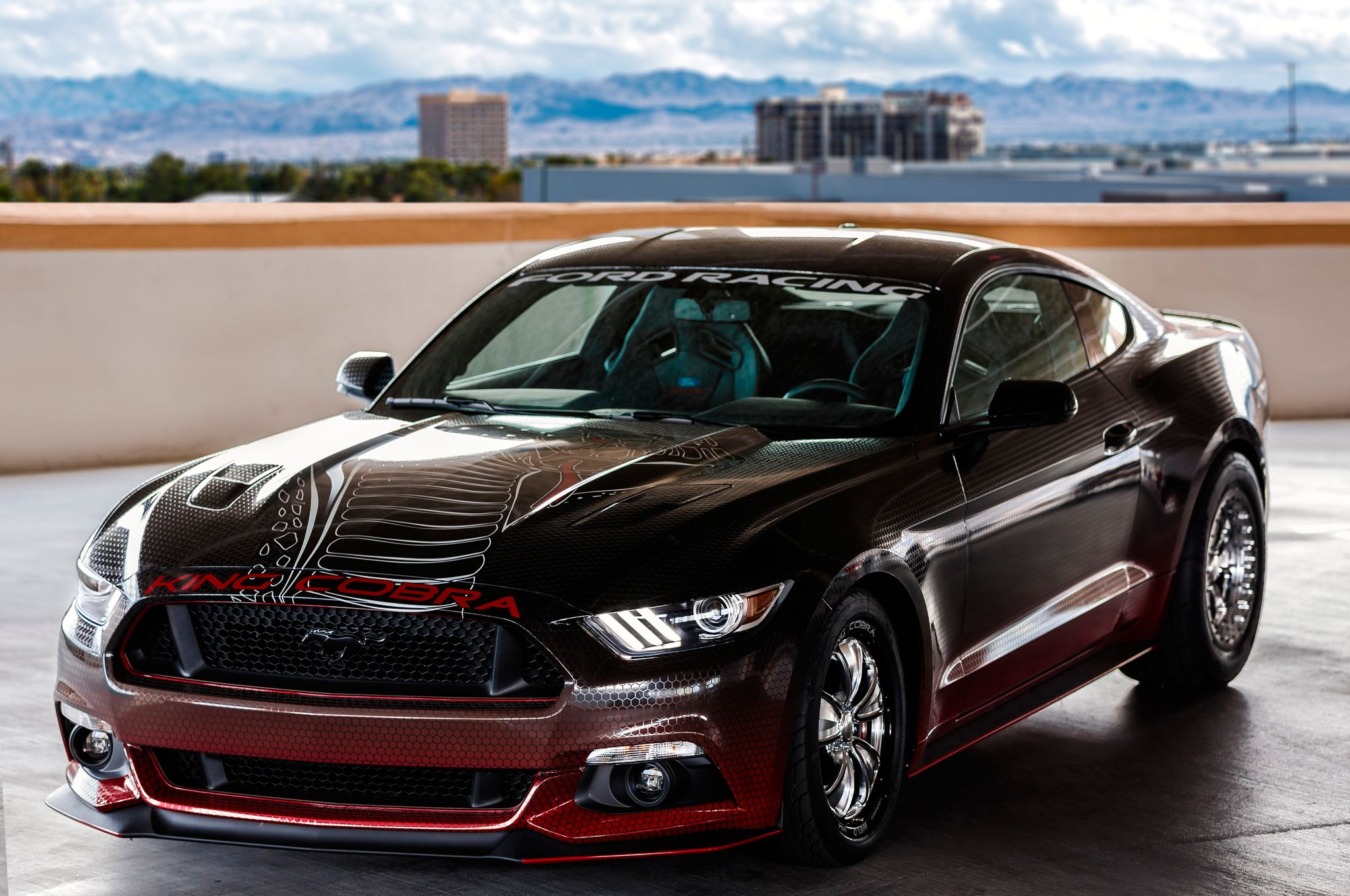 Drag Racing Appears To Be A Theme In  Sema Show In Las Vegas And Here Is Another Quarter Mile Special The Latest  Ford Mustang Gt King Cobra