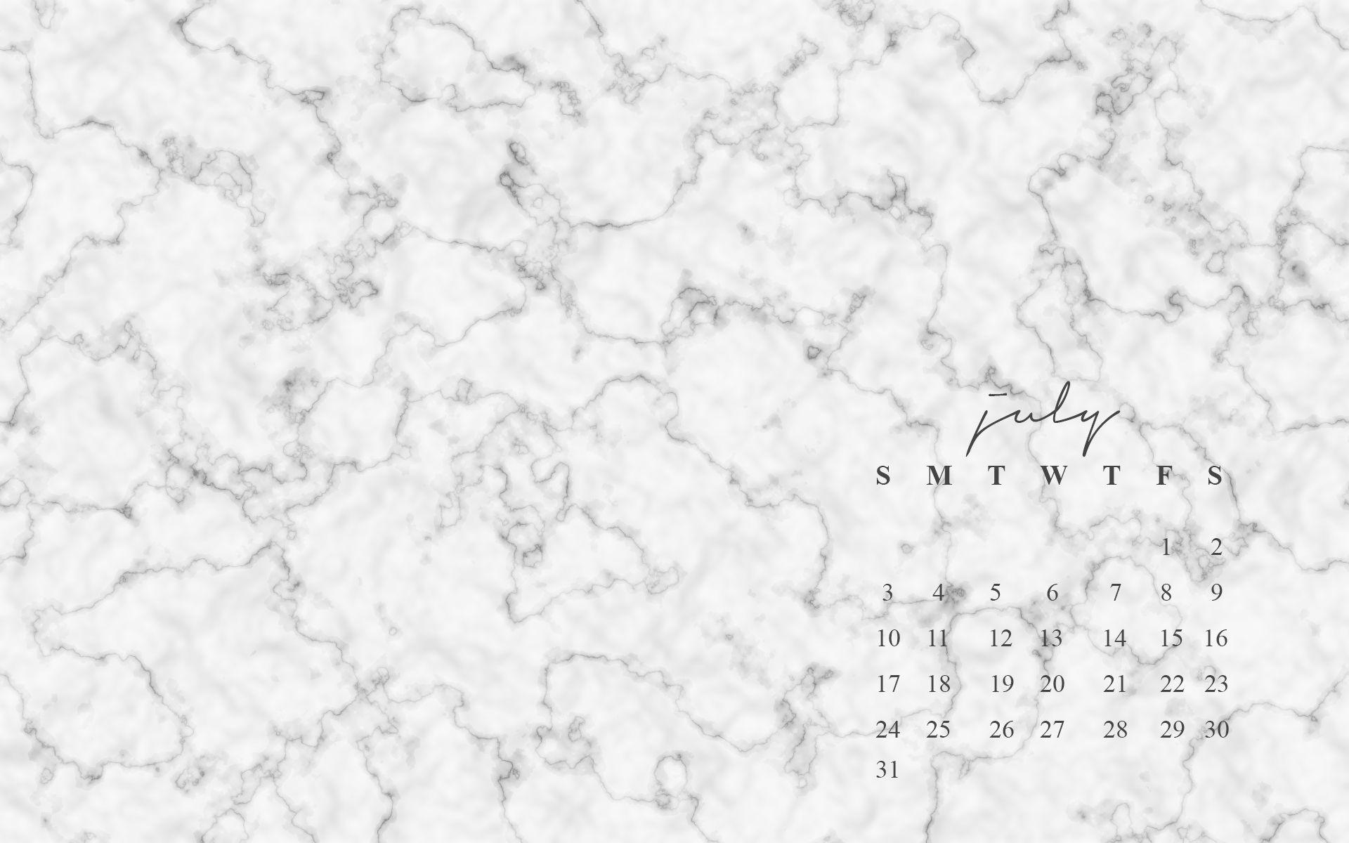Marble Calendar Wallpaper : Free july desktop wallpapers iphone