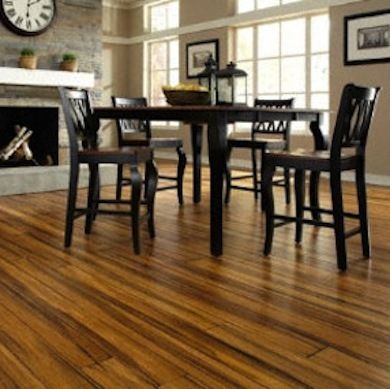 I love the look of this bamboo flooring. Very durable too.