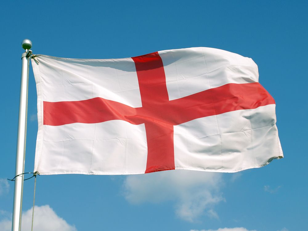 Happy St Georges Day St George Is The Patron Saint Of England His Symbol Was A Red Cross On A Whit St Georges Day Happy St George S Day Images Of England