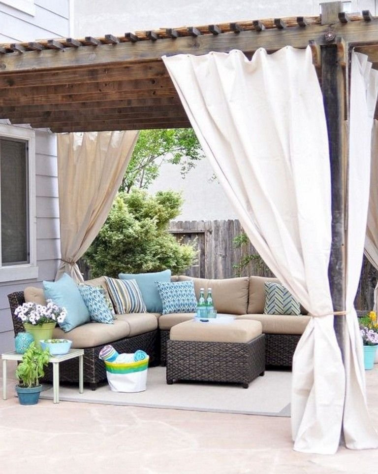 60 Marvelous Backyard Pergola Plan Ideas Outdoor Curtains For Patio Outdoor Curtains Outdoor Pergola