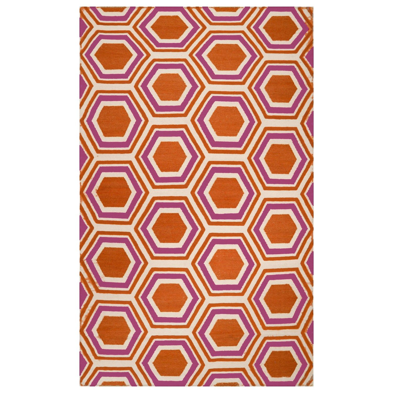 Jill Rosenwald by Surya Fallon Honeycomb Hand Woven Flatweave Rug. #laylagrayce #rug #surya