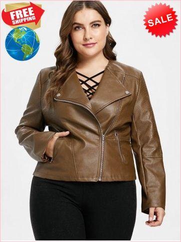 de232733ae3 Best Prices Zipper Embellished Plus Size Biker Jacket 2323912  nGVWR6i0IucCF1mk3Ej7 Cheap Sale  RoseGal.com
