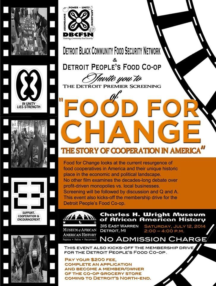 Food For Change movie thewright