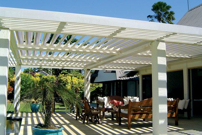 A Vergola Roof That We Have For The Middle Portion Of Our Patio Cover It Is An Opening And Closing Louver System That Close Building A Patio Patio Roof Patio