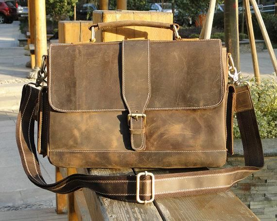 The Handmade Vintage Leather Messenger Bag  091cf2e692b8f