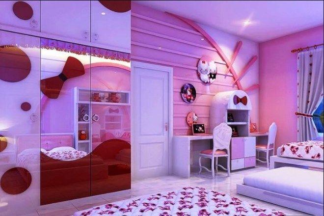 19 Cute & Charming Hello Kitty Bedroom Decoration | Girls ...