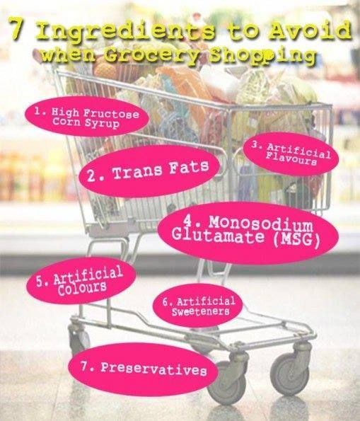 7 Ingredients to avoid when shopping..  What do you do to promote healthy eating in your families?