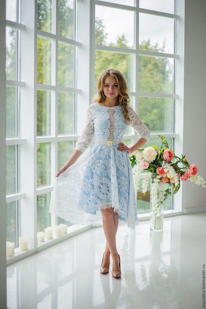 Купить или заказать Платье  Poesie  в интернет-магазине на Ярмарке  Мастеров. Кружевное 8250962fff4