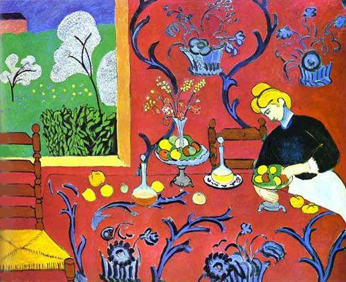 La Tavola Imbandita.Matisse La Tavola Imbandita Armonia In Rosso Storia Dell
