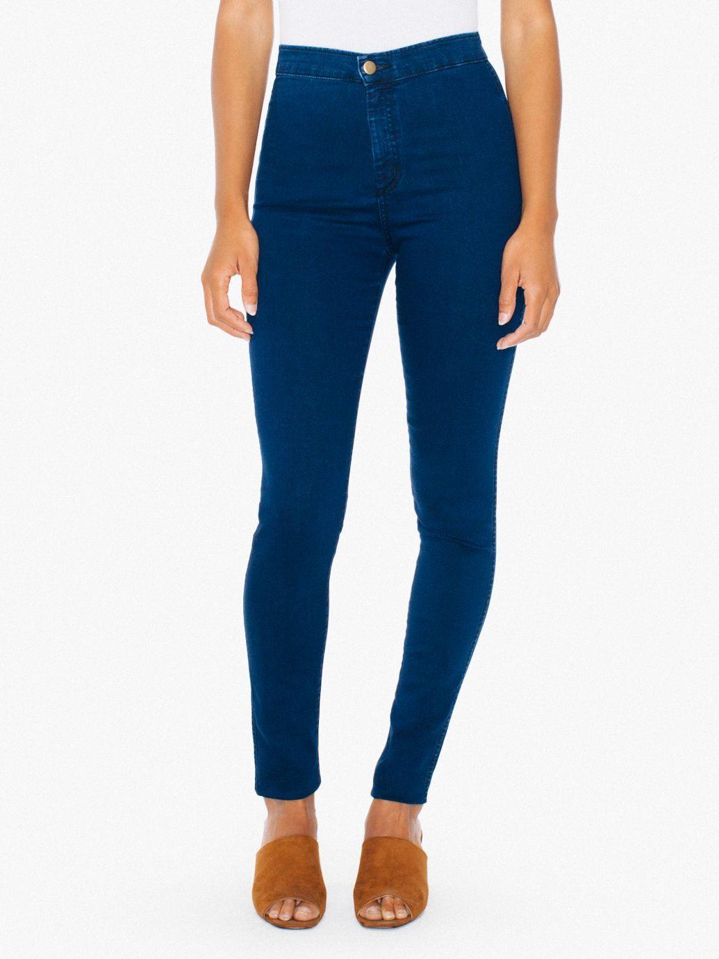 White high waist easy jeans