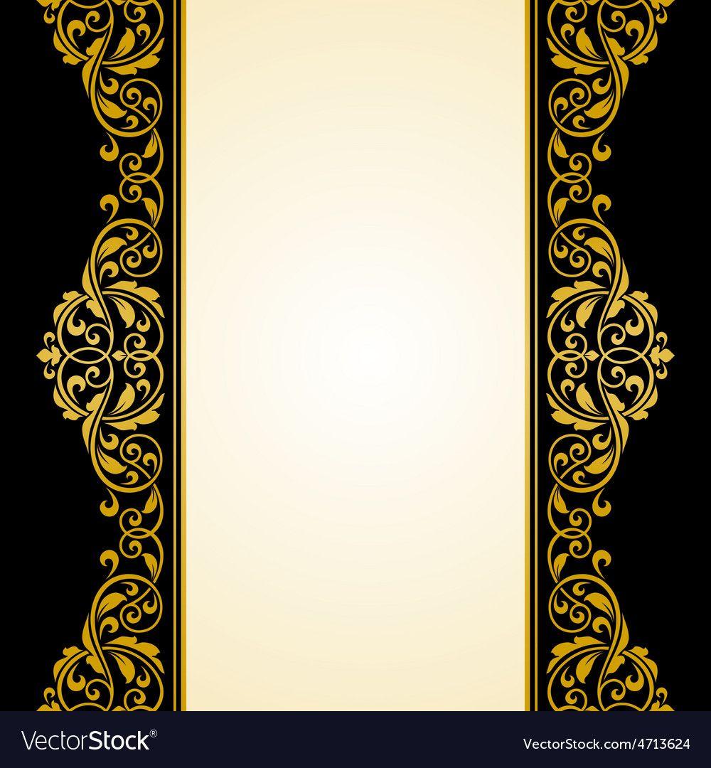 vintage greeting card vector image on  vintage greeting
