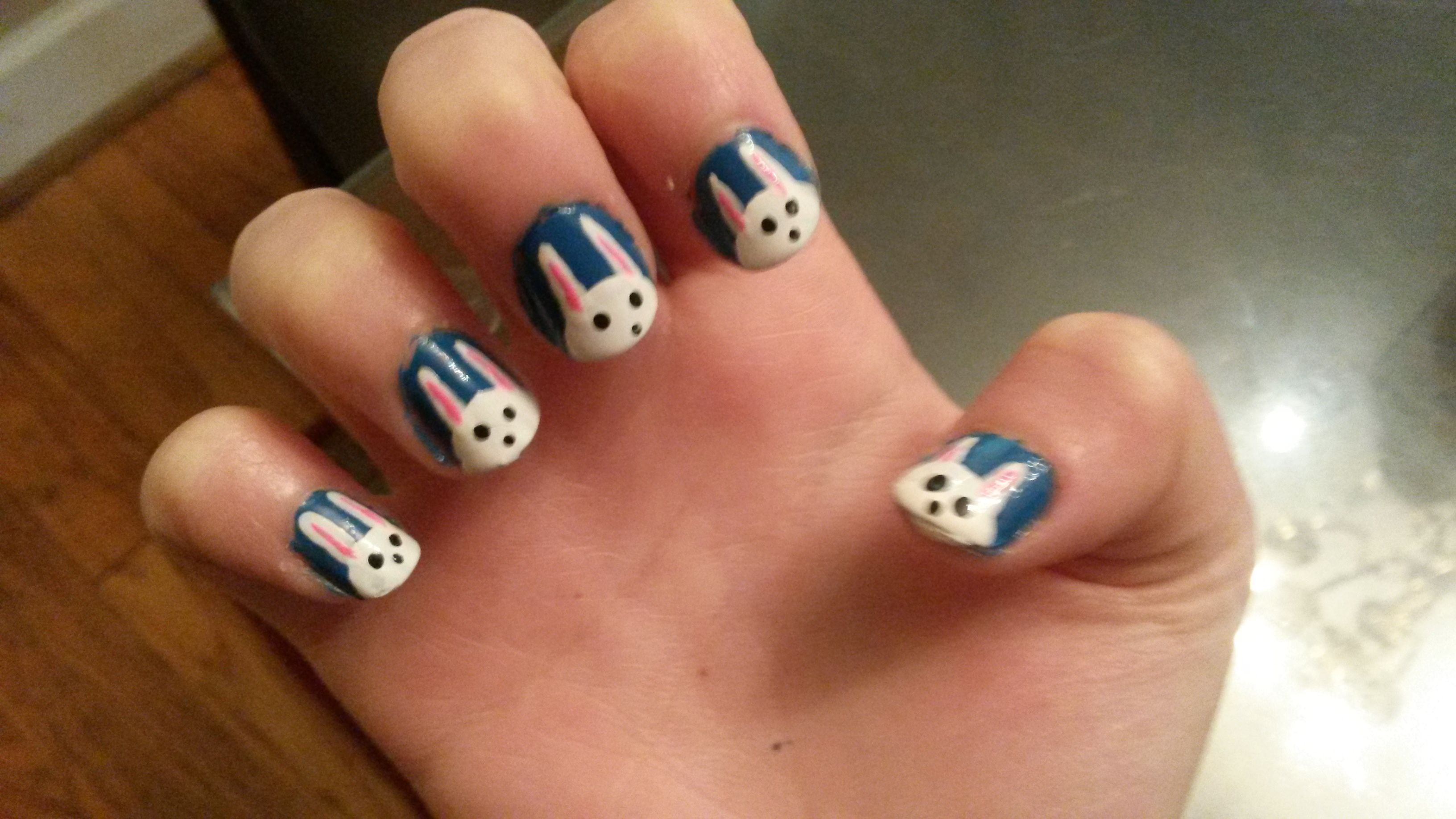 bunny bunnies spring cute nail art short nails | My Nail Art ...