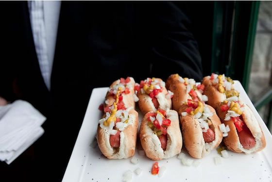 Mini Chicago Style Hot Dogs By Phil Stefani Signature Events Wedding Catering