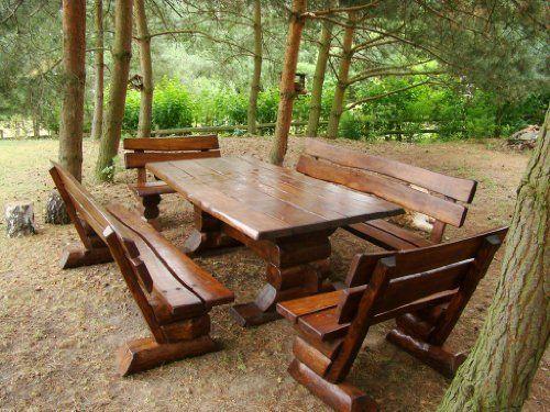 Gartenmöbel Sitzgarnitur Naturholz Sommer Traum für 12 Personen ...