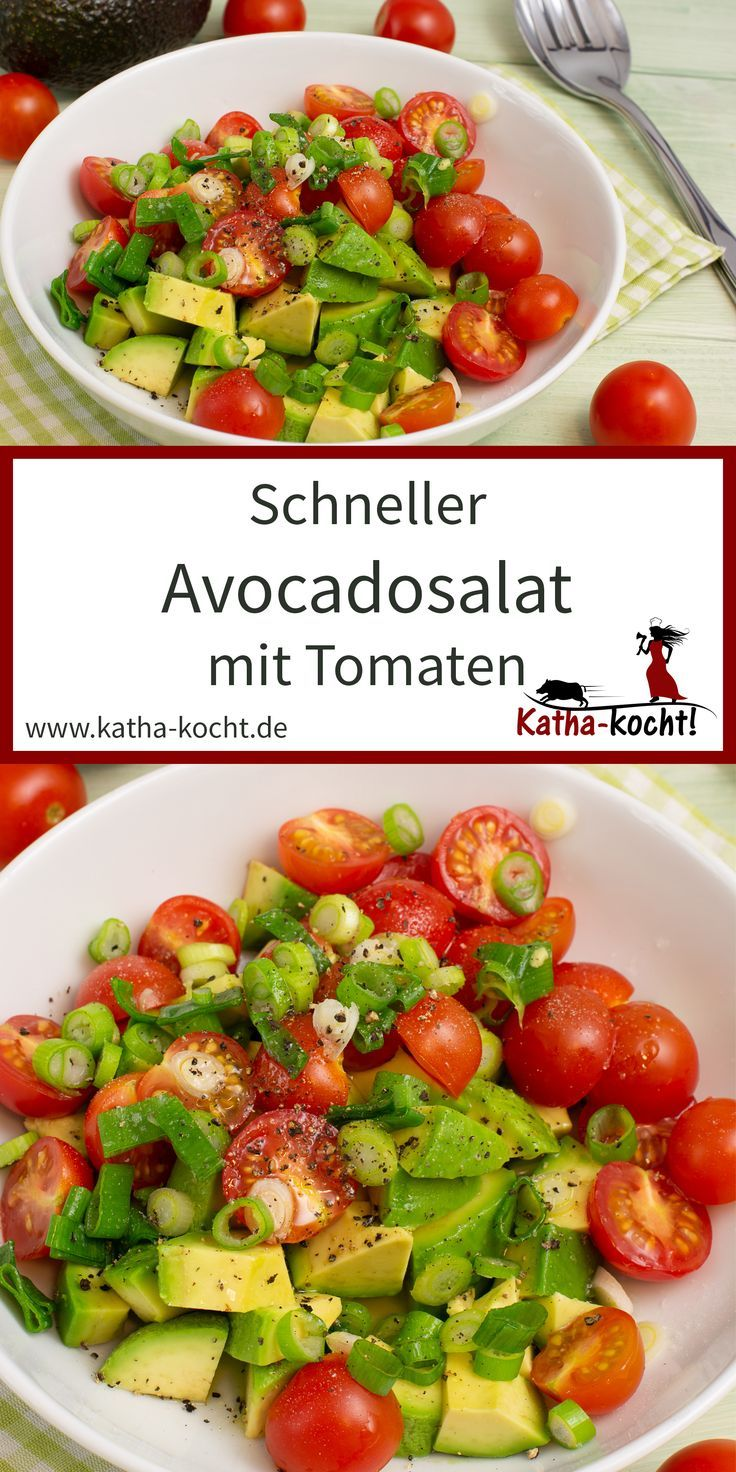 Schneller Avocadosalat #cleaneating