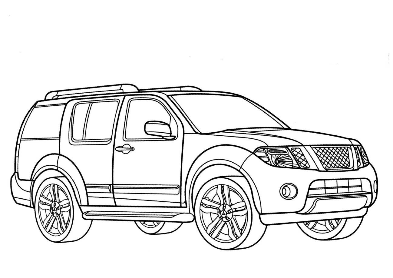 nissan pathfinder coloring pages trucks cars coloring pages Citroen DS Cabriolet Hardtop nissan pathfinder coloring pages
