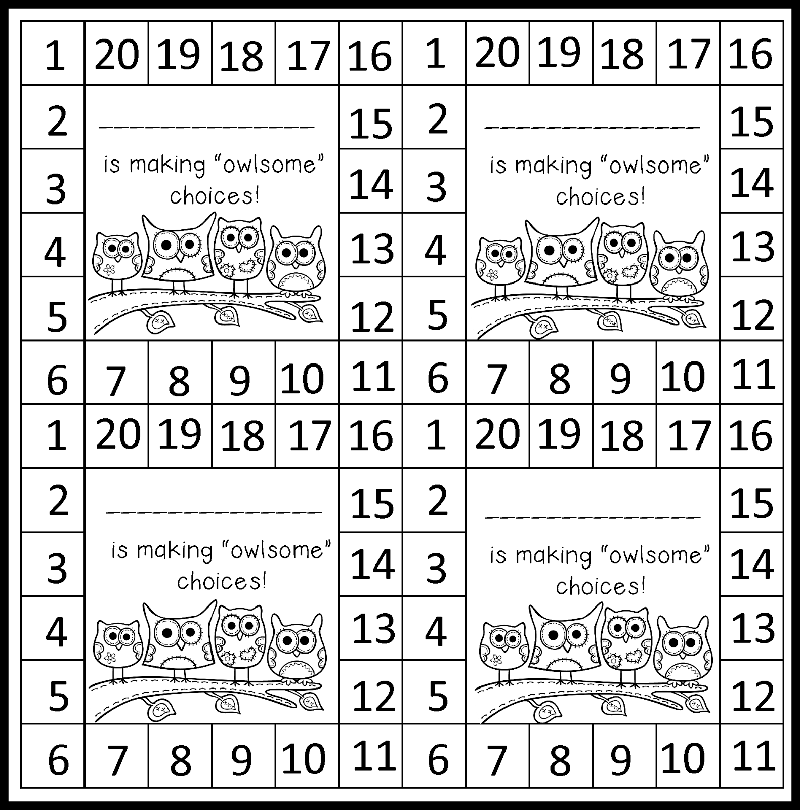 Behavior Punch Cards Behavior Punch Cards Punch Cards Card Template