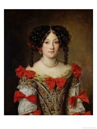 Late 1650's - 'Portrait of 'Marie Mancini Princesse de Colonna' (Italian,  Roma, 1639-1715) by Jacob Voet (Belgian, Ant… | Portrait, Female portrait,  European dress