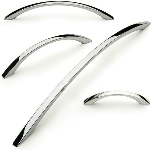 Turin Bow Handle For Kitchen Bedroom Cabinet Door Cupboard Drawer Polished Chrome Length Centres