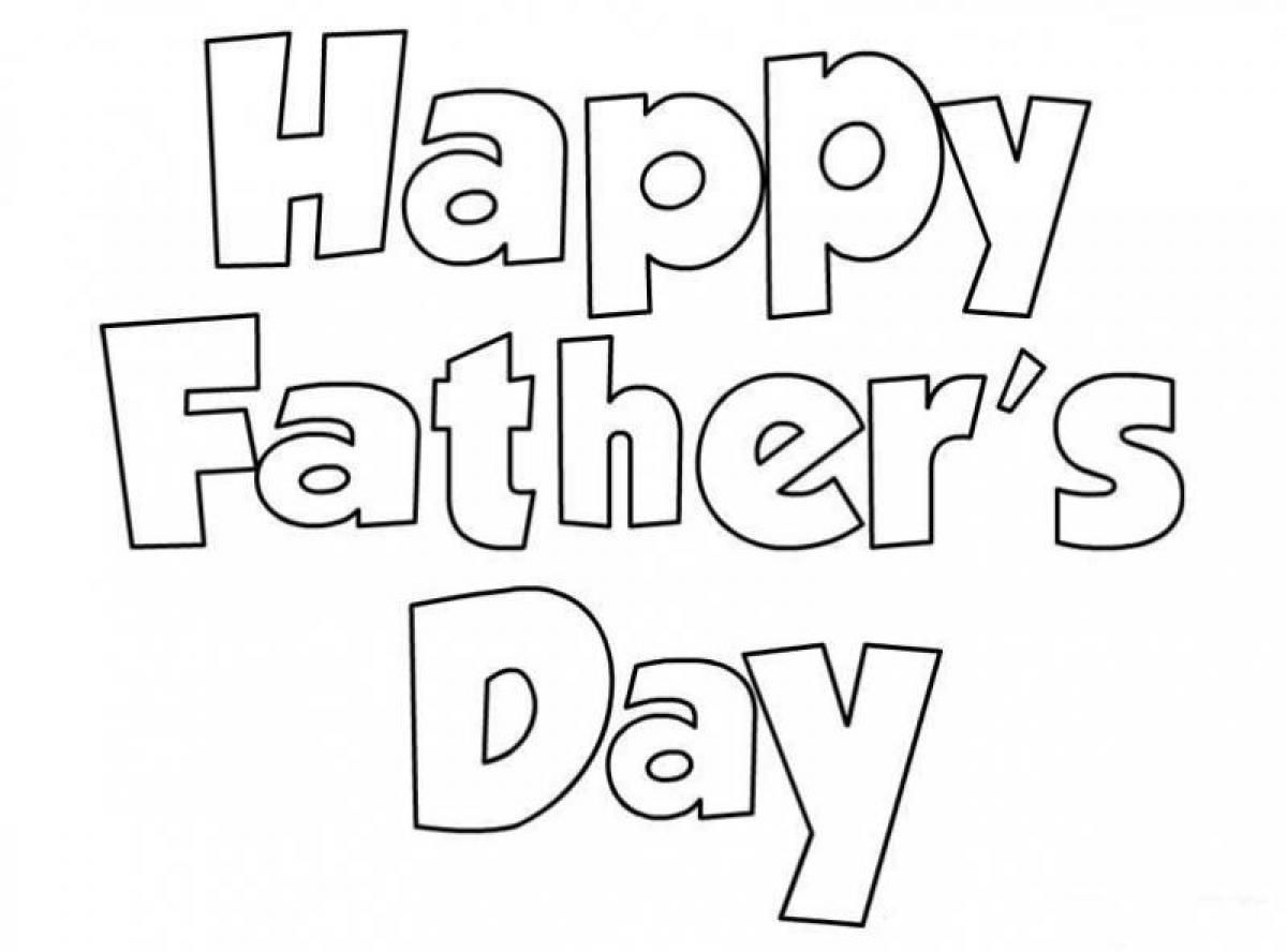 Happy Father\'s Day Coloring | Holiday Coloring ❤ | Pinterest