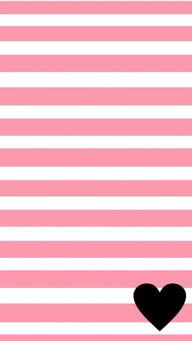Pink White Stripes Black Iphone Wallpaper Background Phone Lockscreen Wallpaper Heart Iphone Wallpaper Wallpaper Backgrounds Cellphone Wallpaper Backgrounds black white and pink