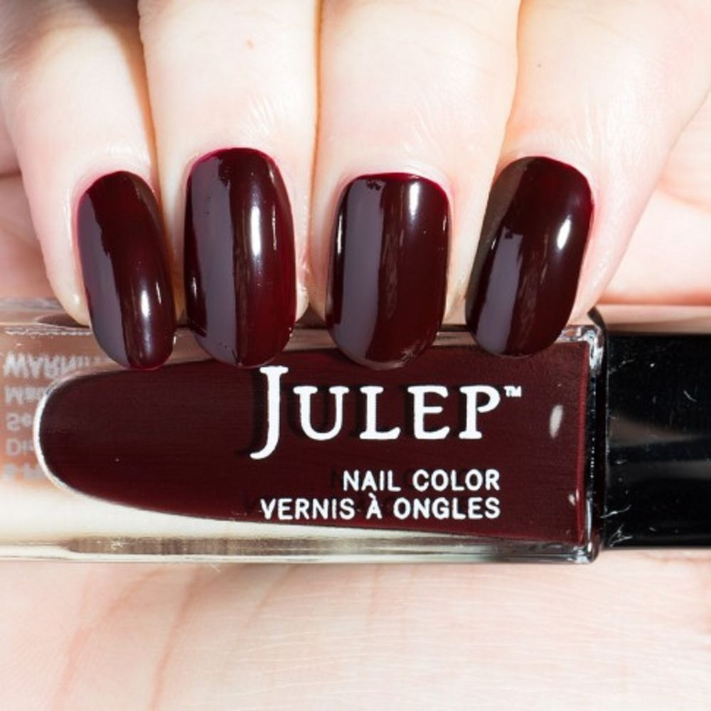 Julep LUCY Nail Color Treat Polish Modern Dark Burgundy Creme BNIB ...