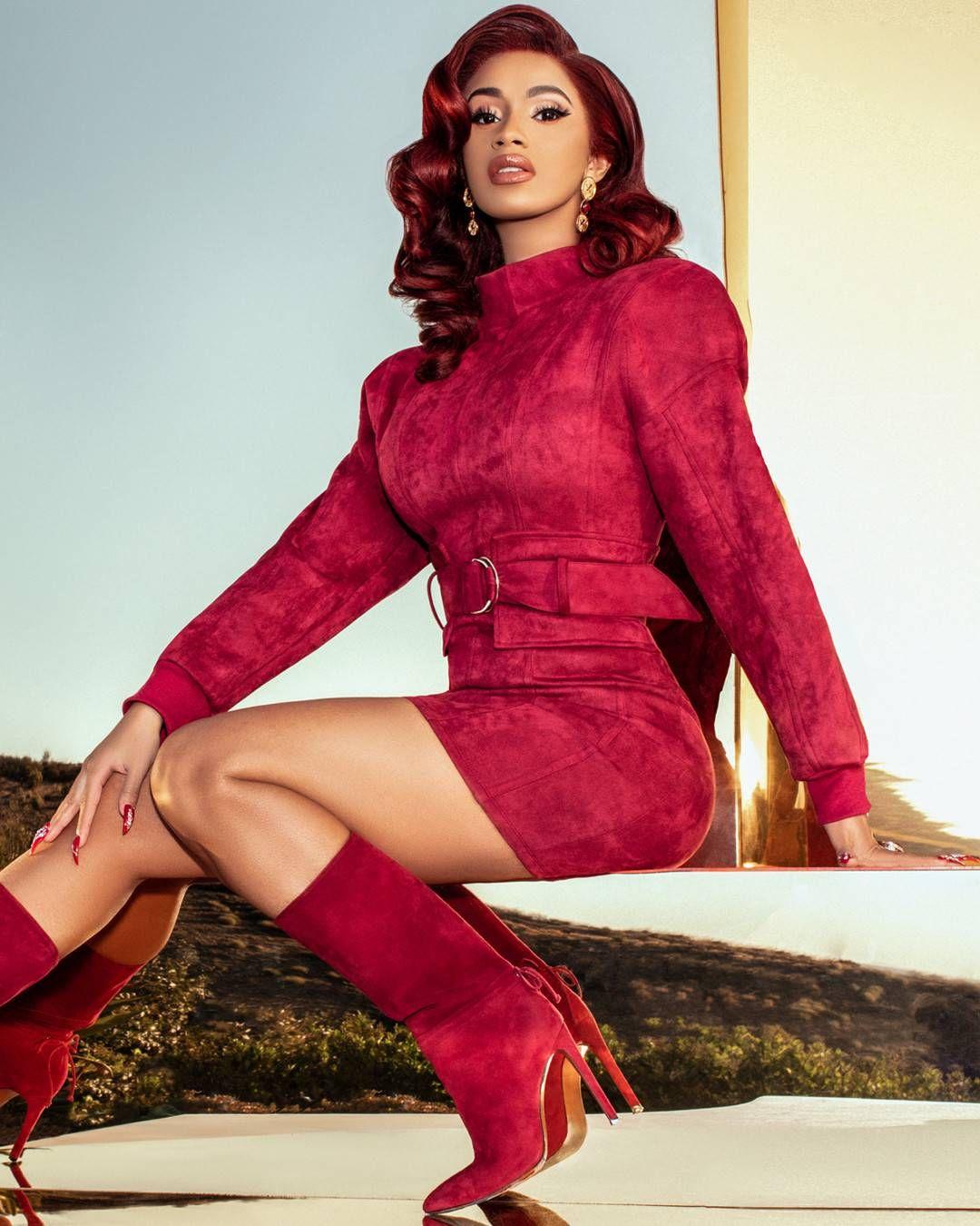 Cardi B Rocks A Fashion Nova Dress And Boots