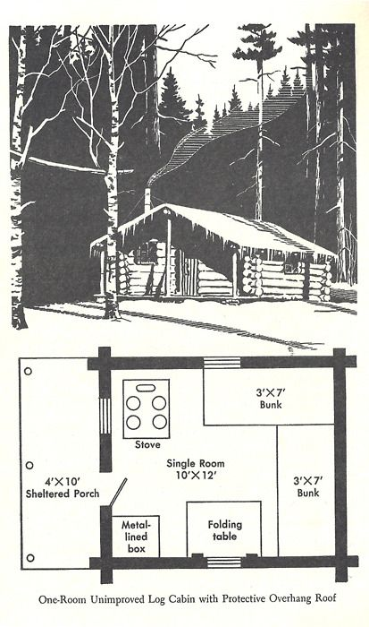 The Wilderness Cabin | For the Home | One room cabins, Diy cabin