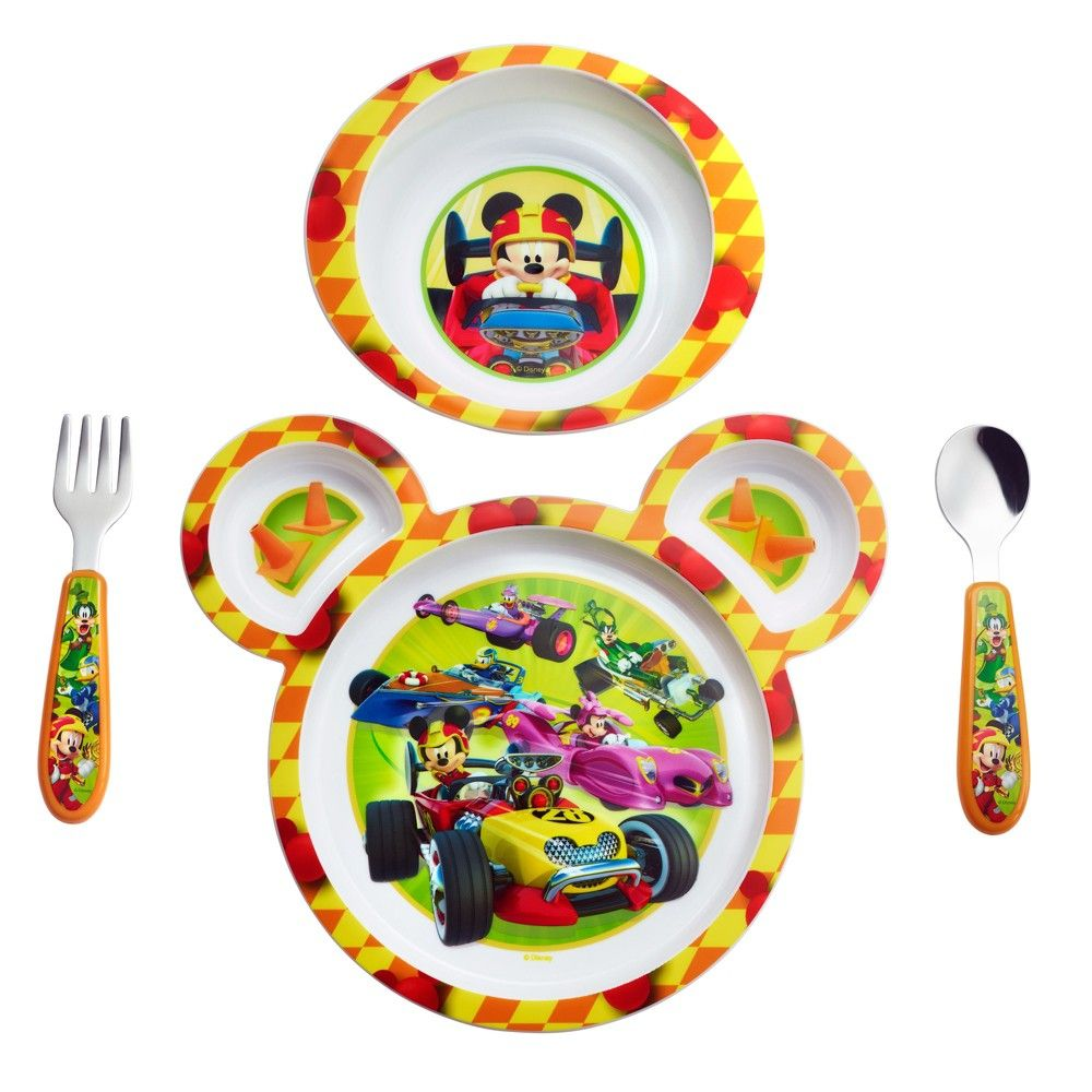 The First Years Disney Baby Mickey Mouse 4-Piece Feeding Set New