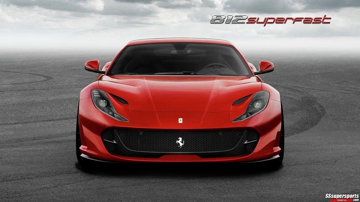 2 2018 Rosso Settanta Ferrari 812 Superfast Front View