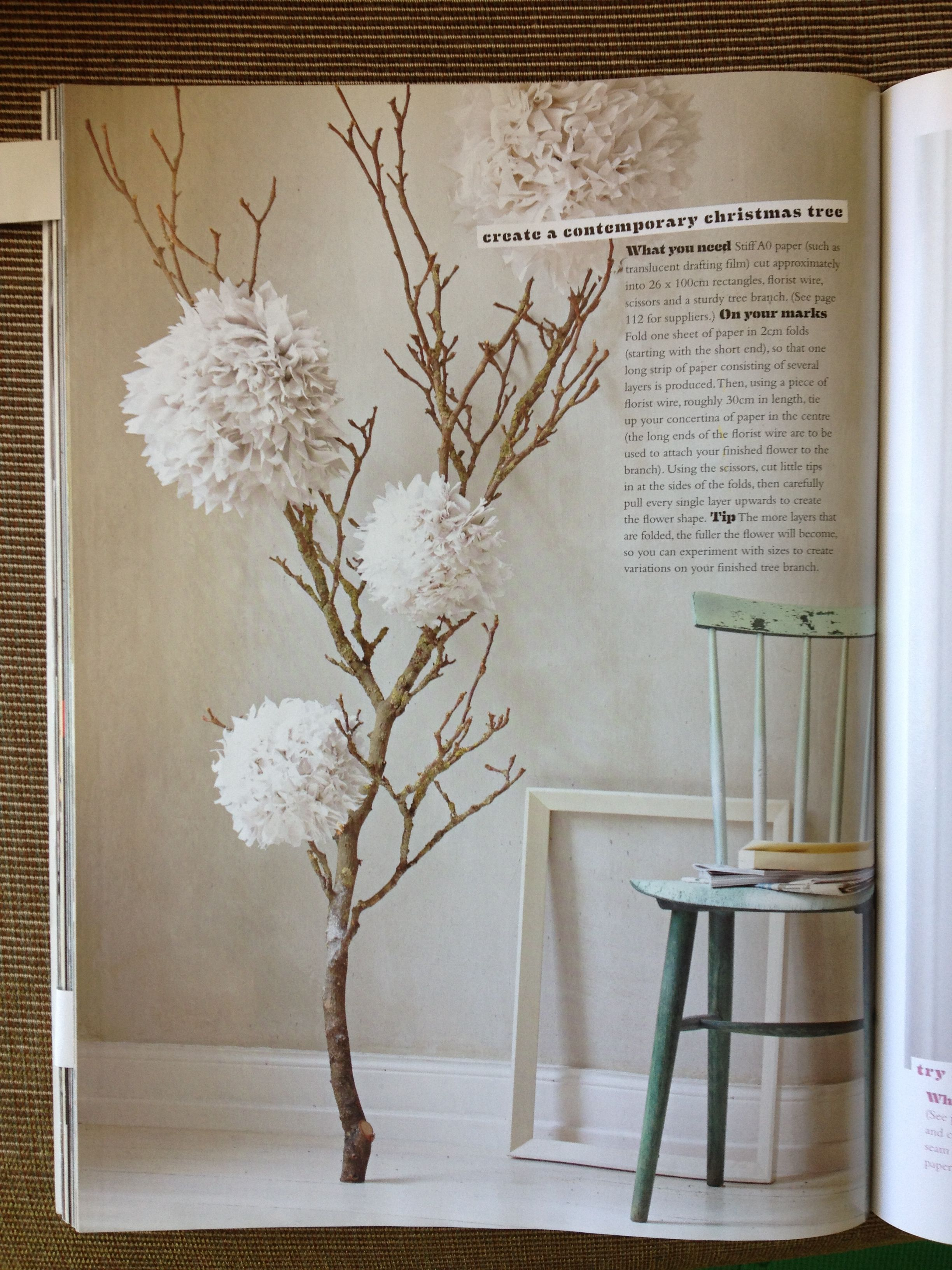 Love These Paper Flowers Used For Christmas Decorations In Inside