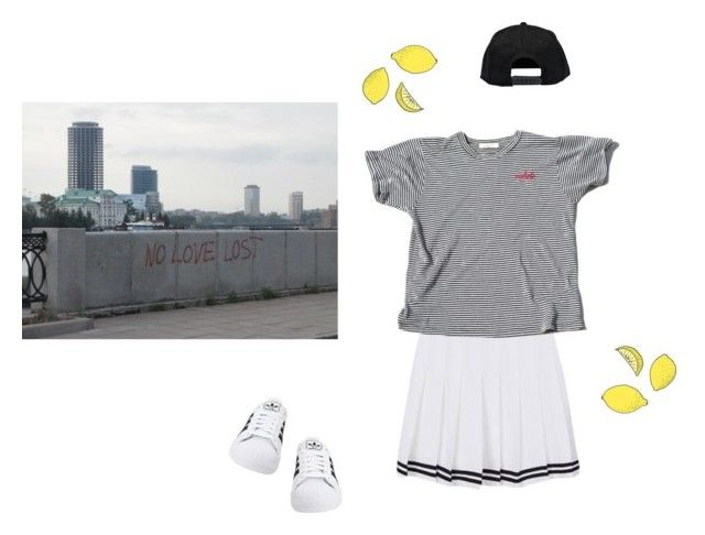 """If life gives me headaches."" by suislalune ❤ liked on Polyvore featuring Chloé, Boohoo and adidas Originals"
