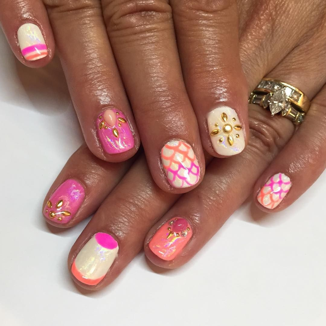 """Sparkle SF Nail Studio on Instagram: """"If a koi fish and a mermaid ..."""