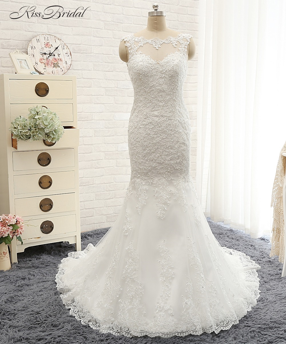 watch more here new arrival sexy wedding dress oneck