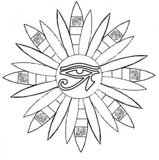 Mandala Oeil De Horus Art Egyptien Art Du Cuir Coloriage Yeux