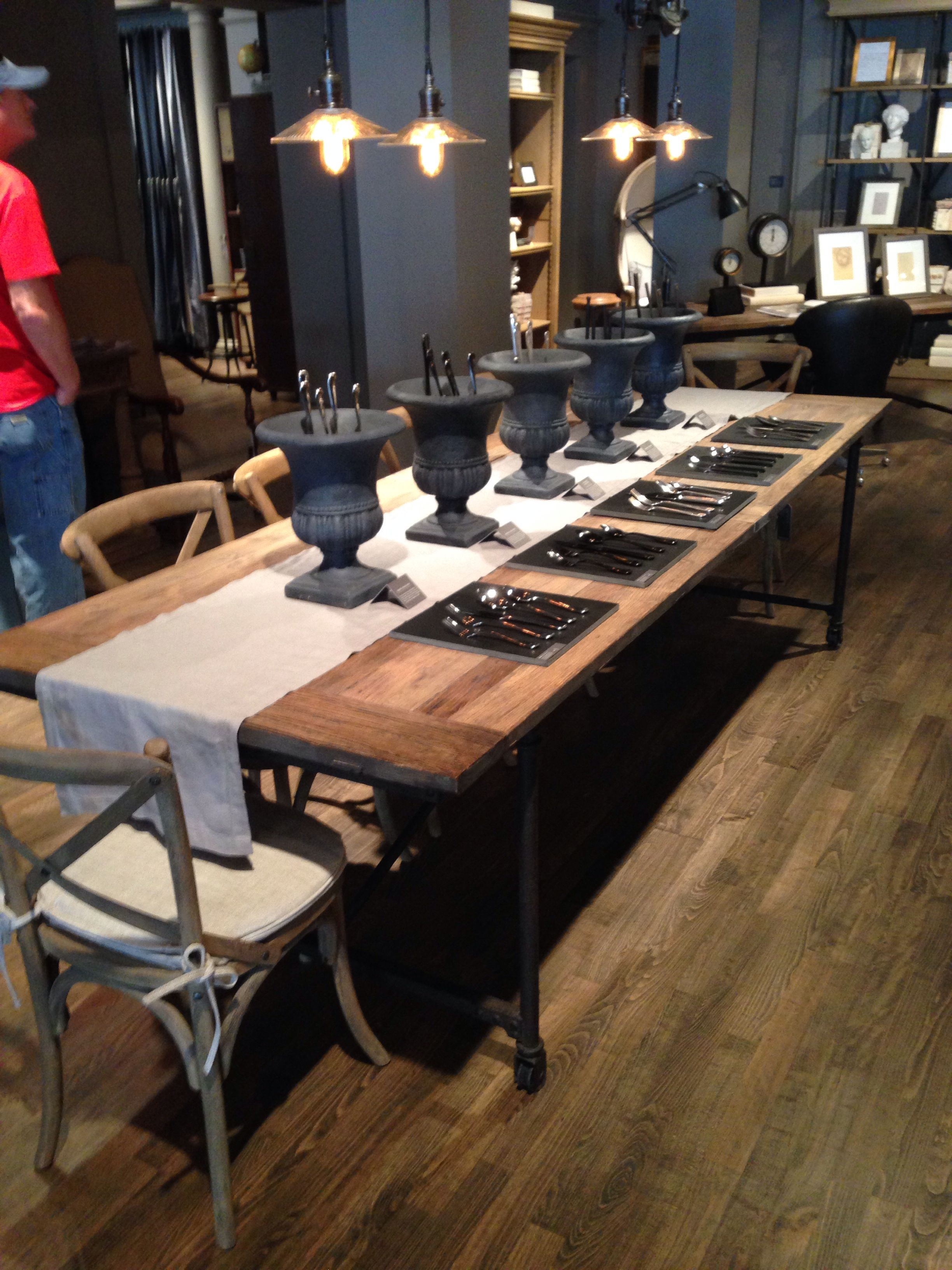 Flatiron Table 112 1195 Restoration Hardware Table Table And