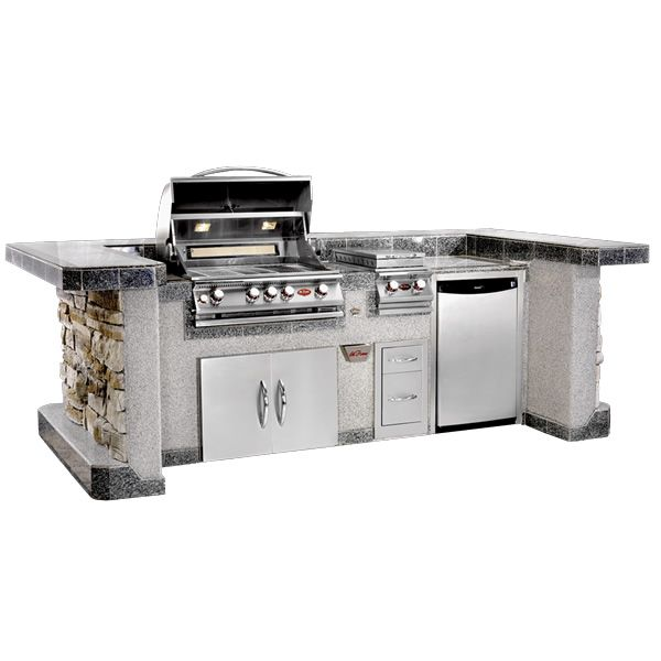 30 Outdoor Kitchens And Grilling Stations: Cal Flame PV6020 BBQ Grill Island