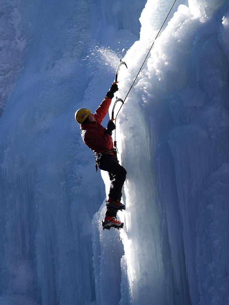 Ice Climbing Ouray, CO.