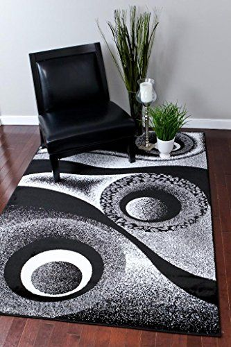 Living Room Rug Sets Flower Decorations Home Dynamix Ariana Collection 3 Piece Area Set Ultra Soft And Super Durable Hd5194 502 Black