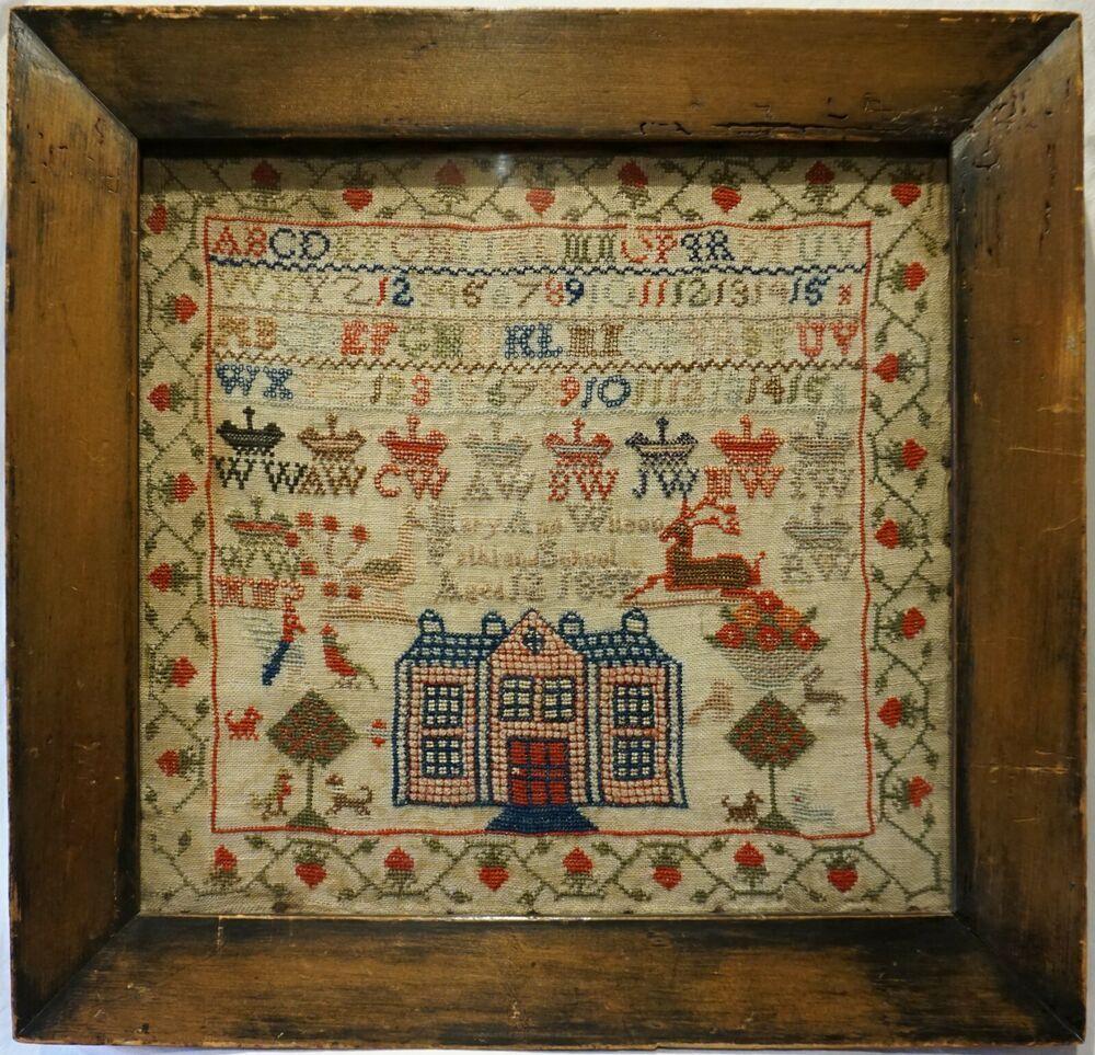 Details about MID 19TH CENTURY HOUSE, MOTIF & ALPHABET