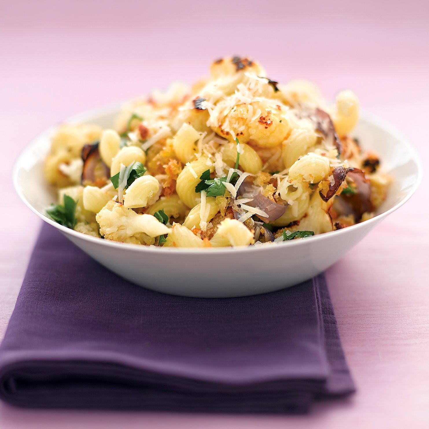Pasta With Roasted Cauliflower Parsley And Breadcrumbs Recipe