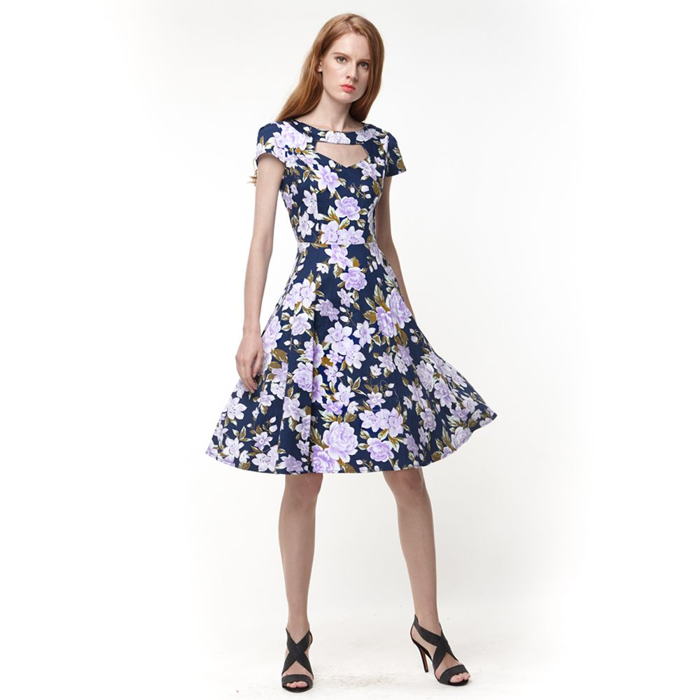 Click to buy ucuc women summer s vintage short sleeve vneck floral