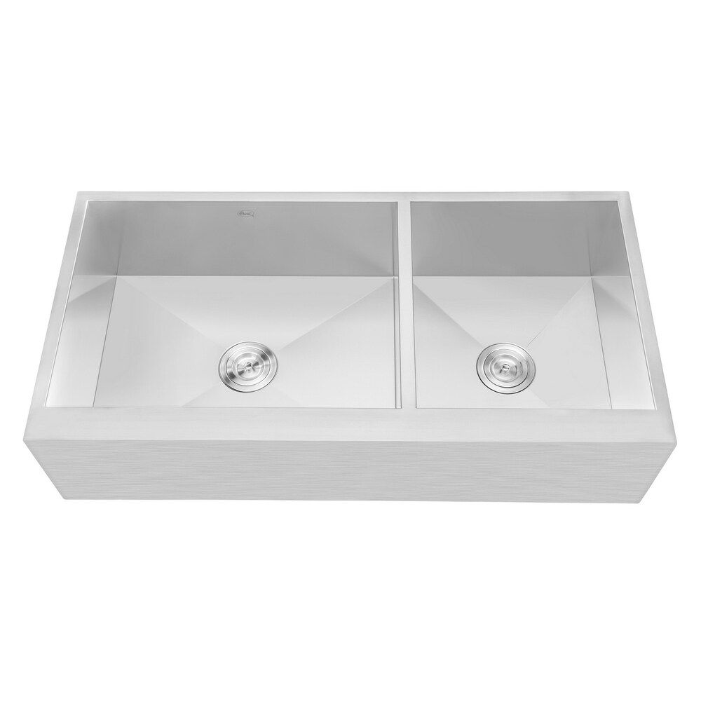 Flat Apron Front Stainless Steel 42 In X 21 In X 10 In 16g