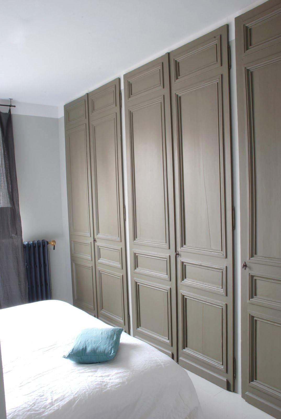 Deco Porte De Placard couleurportes de placards + mur gris (avec images) | porte