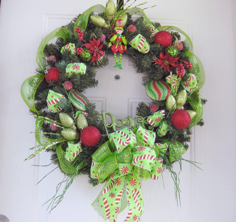 peace christmas wreath deco mesh front door wreath welcome wreath christmas wreath