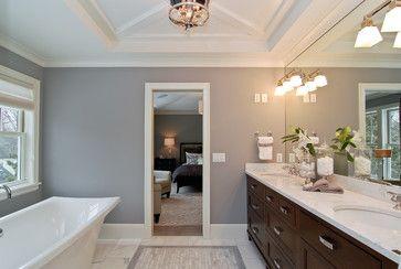 Wall Color Is Benjamin Moore London Fog Traditional Bathroom